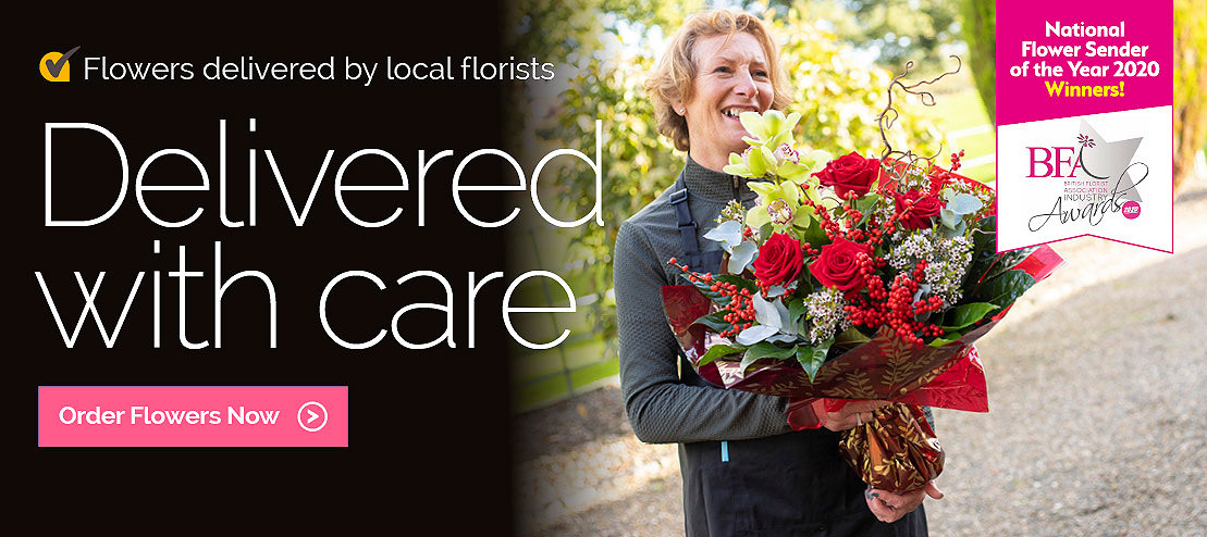 Flowers delivered with care by local florists in the UK