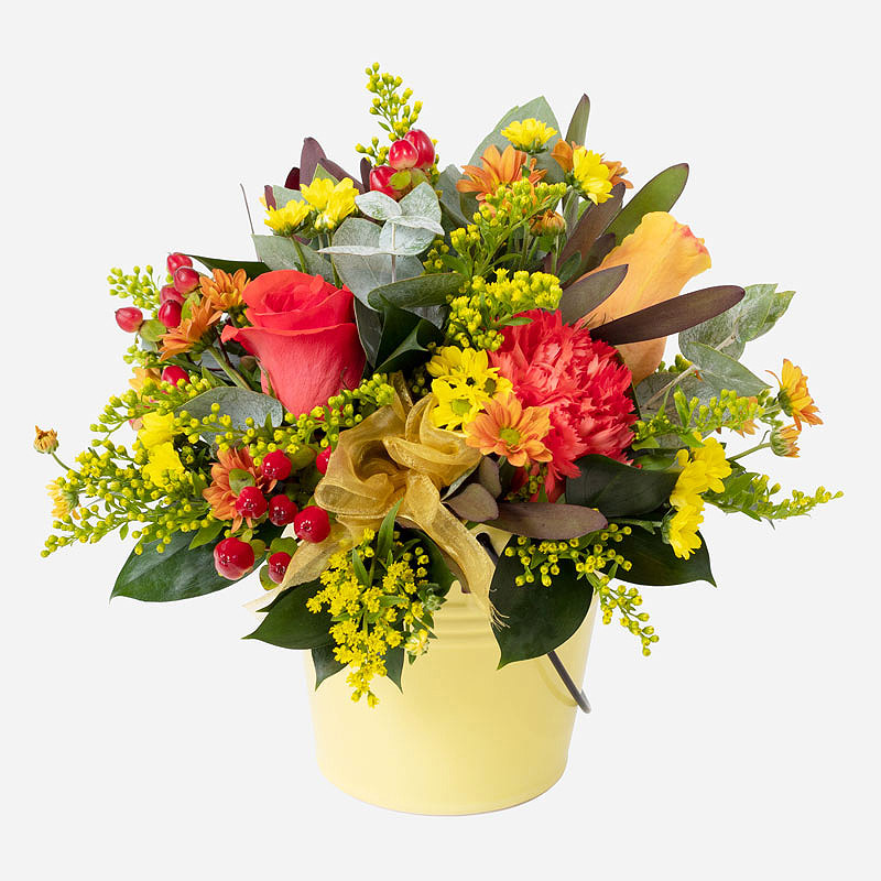 Order Pot of Gold Arrangement flowers